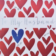 Wedding anniversary card husband - to my husband..